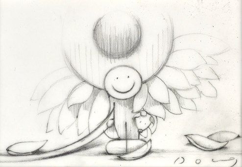 Here Comes The Sun (study) by Doug Hyde - Original Drawing on Mounted Paper